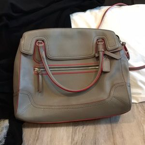 New Coach purse handbag in gray